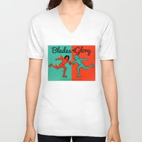 will ferrell V-neck T-shirts featuring Blades of Glory by Derek Eads