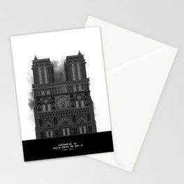 HexArchi - France, Paris, Cathedral of Notre Dame de Paris Stationery Cards