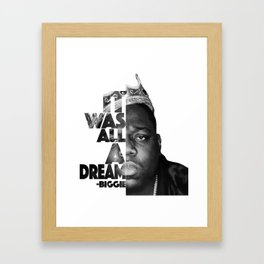 Urban Biggie Smalls Lyrics/Text Font Framed Art Print