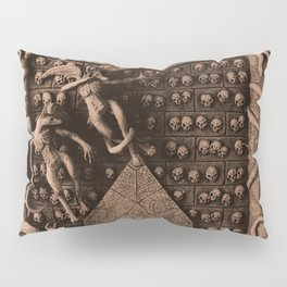 Cave Canem - Wall of Skulls (sepia) Pillow Sham