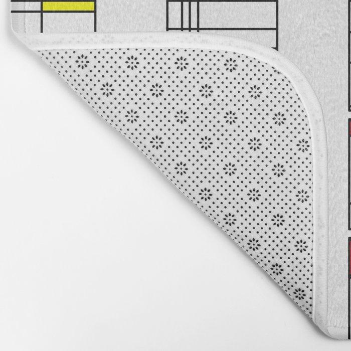 "Math Art Digital Print - ""mondRian"" Bath Mat"