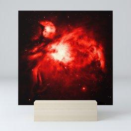 Orion NeBULA : Red Mini Art Print
