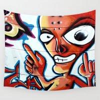 graffiti Wall Tapestries featuring Graffiti by Fine2art