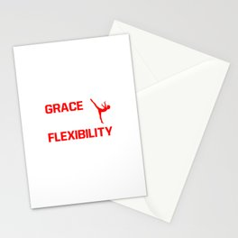 Strength Grace Balance Flexibility Gymnastics T-Shirt Stationery Cards