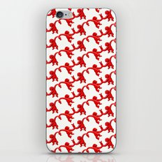 Monkey Toy Pattern - Red iPhone & iPod Skin