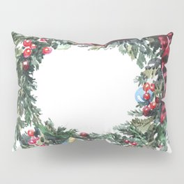 Christmas wreath of happiness Pillow Sham