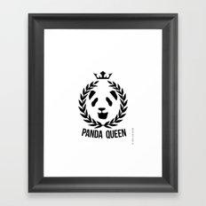 panda queen/king Framed Art Print