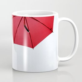 Red umbrellas hanging in the air Coffee Mug
