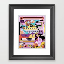Daily stress and comfort Framed Art Print