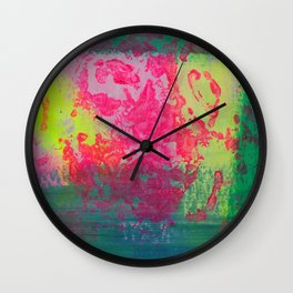 Neon Abstract 10 Wall Clock