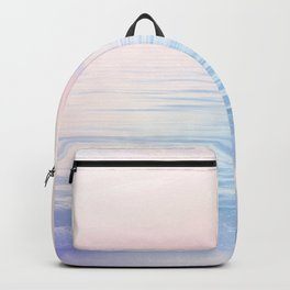 Dreamy Pastel Seascape 2. Blue & Nude #pastelvibes #Society6 Backpack