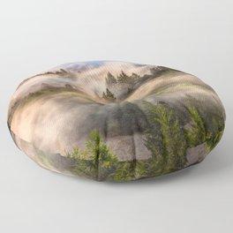 Coastal Fog Over Mount Tamalpais Floor Pillow