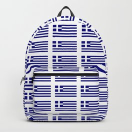 Flag of greece -Greek, Ελλάδα,hellas,hellenic, athens,sparte,aristotle. Backpack
