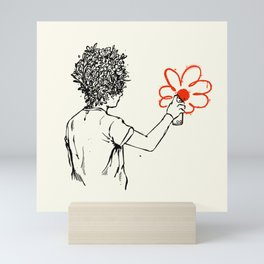 Flower Man - Grafitti Mini Art Print