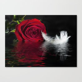 Crimson Ripples Canvas Print