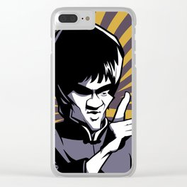 Kung fu master Bruce Clear iPhone Case