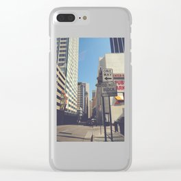 Akard Street Clear iPhone Case