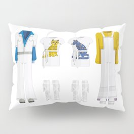 Pop Group Minimal Sticker Pillow Sham