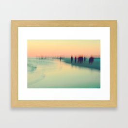 Abstract Ocean Waves 4 Framed Art Print