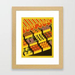 Fruit Store Framed Art Print