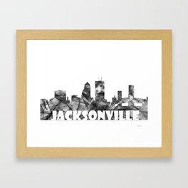 Jacksonville Skyline BG2 Framed Art Print