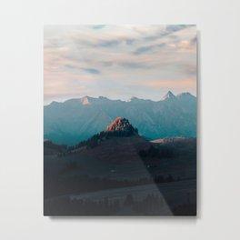 Light on the Mountain Metal Print