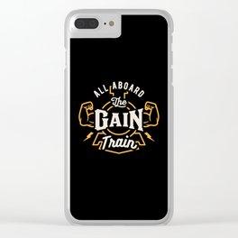 All Aboard The Gain Train Clear iPhone Case