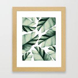Tropical Banana Leaves Vibes #1 #foliage #decor #art #society6 Framed Art Print