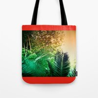 palms Tote Bags featuring PALMS by Teresa Madruga