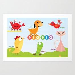 Dee O. Gee and the PIO PIO Gang. Art Print