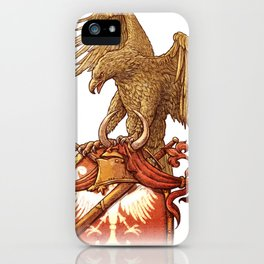 eagle on shield iPhone Case
