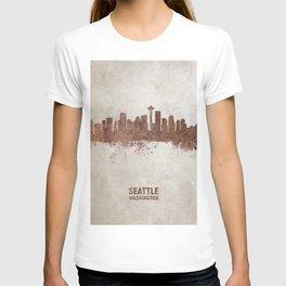 Seattle Washington Rust Skyline T-shirt