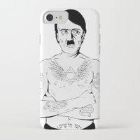 jewish iPhone & iPod Cases featuring Adolf Hitler Jewish Tattoo by Jacinta Stokes