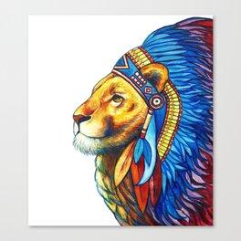 The Lion Chief Canvas Print