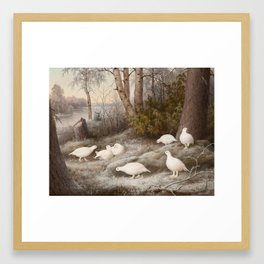 A Bevy of Ptarmigans by the River 1897 , Ferdinand von Wright Framed Art Print