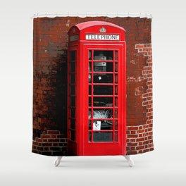 Red Phone Box- London England UK Shower Curtain