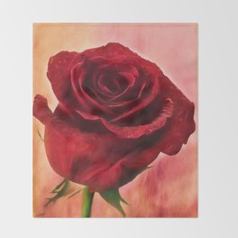 Red Red Rose Throw Blanket