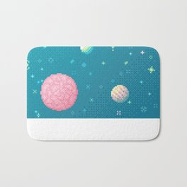 Brain Planet (8bit) Bath Mat