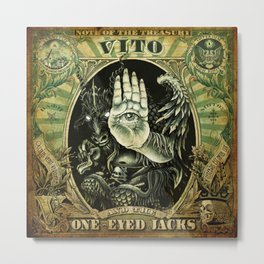 Baphomet - Vito & the One-Eyed Jacks Metal Print