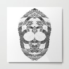 Egyptian Pharaoh Mummy Skull Metal Print