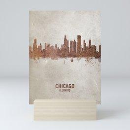 Chicago Illinois Rust Skyline Mini Art Print