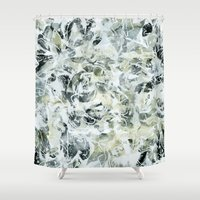 mineral Shower Curtains featuring mineral by clemm