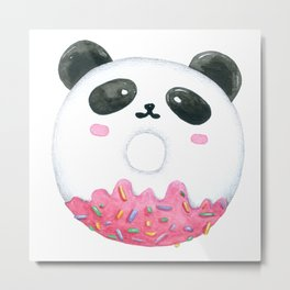 Panda Donut Art Work Metal Print