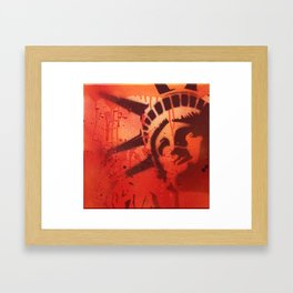 Small Liberty Framed Art Print