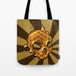 Honey comb splat skull Tote Bag