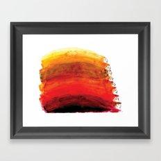 Rainbow of red hair Framed Art Print