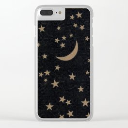 Book Cover Moon Clear iPhone Case