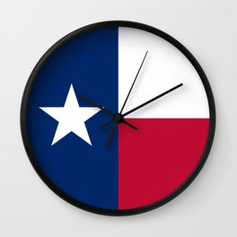 Texas state flag, High Quality Image Wall Clock