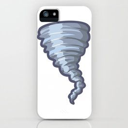 Cartoon Tornado Icon iPhone Case