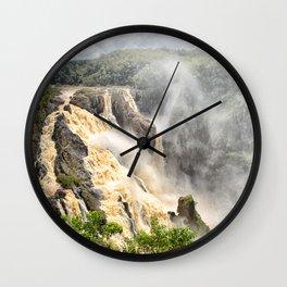 Barron Falls under a summer sky Wall Clock